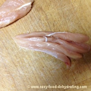 Chicken Sliced Thin Ready For Dehydrator