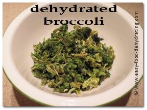 Dehydrated Broccoli in a bowl