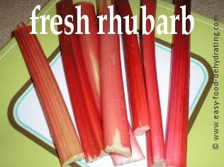 Fresh rhubarb stalks