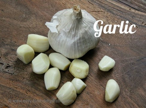 Garlic bulb with loose cloves