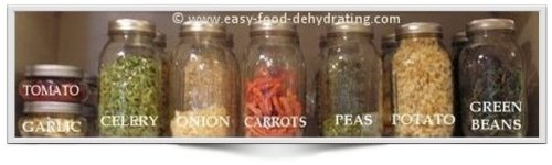 Dehydrated Food in Mason Jars