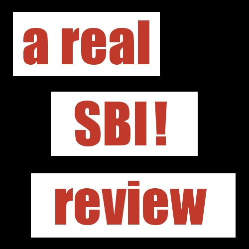 a real SBI! review