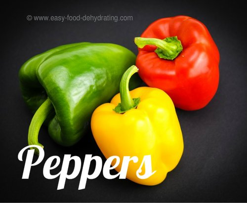 Perfect peppers for dehydrating