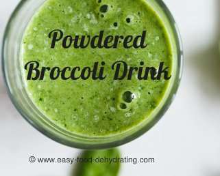 Powdered Broccoli healthy beverage
