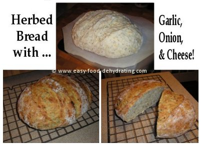 Herbed Anita Bread, with Garlic, Onion, and Cheese!