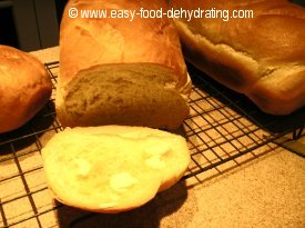 Beginner Bread recipe baked, sliced, and ready for eating!