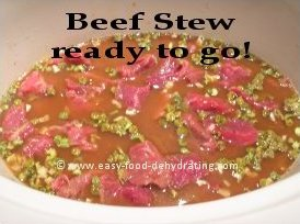 Beef Stew ready to go!