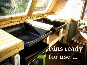 concealed greenhouse potting bins