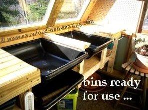 concealed greenhouse potting bins