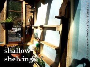 narrow greenhouse shelves perfect for pots