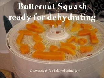 butternut squash on dehydrator
