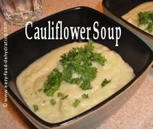 cauliflower soup in a bowl
