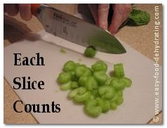 Each celery slice COUNTS!