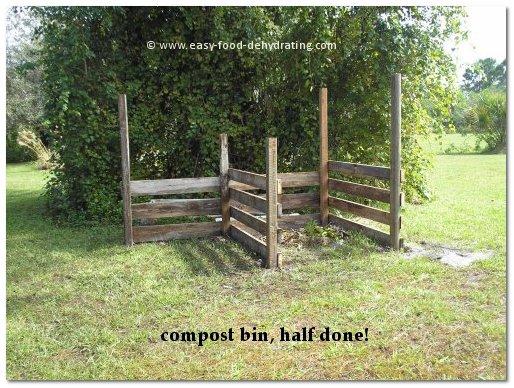 compost bin in progress