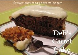 Delectable Carrot Cake from dehydrated carrots