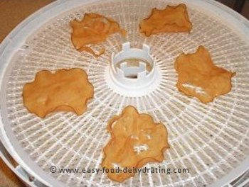 Pre-cooked sliced chicken on Nesco dehydrator tray after dehydrating