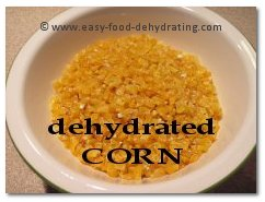 Dehydrated corn in bowl
