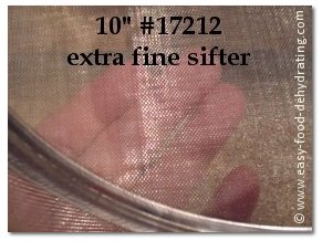 #10 extra-fine sifter at Fantes.com