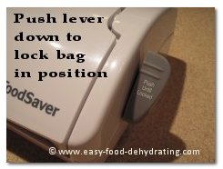 FoodSaver push lever down