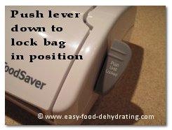 FoodSaver push lever down