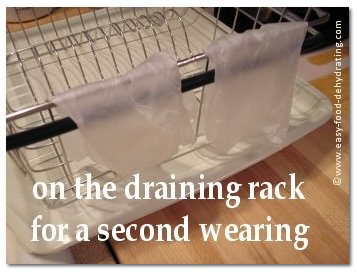 latex gloves drying for re-use