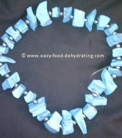 dehydrated potato beaded necklace