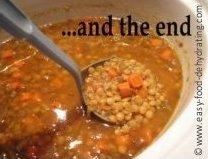 Lentil Soup slowcooker - Done!