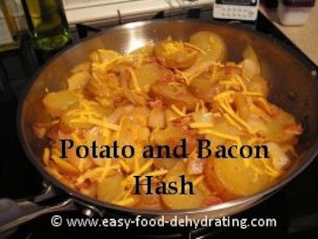 Potato and Bacon Hash with cheese