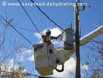 Power Restoration after hurricanes of 2004