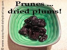dried plums = prunes!