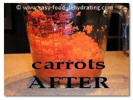 Dehydrated carrots AFTER re-hydrating
