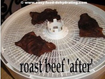 Roast Beef after dehydrating