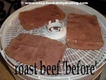 Roast Beef before dehydrating