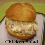 Chicken Salad on a homemade bun