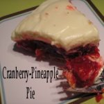 Cranberry Pineapple Pie on a plate