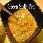 Green Split Pea Soup in a bowl