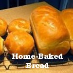 Home Baked Bread cooling on wire rack