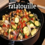 Ratatouille cooking in a pan