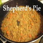 Shepherd's Pie cooking in a pan