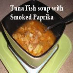 Tuna Fish Soup with Smoked Paprika in a bowl
