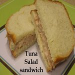 Tuna Salad Sandwich on a plate