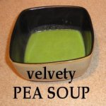 Velvety Pea Soup in a bowl