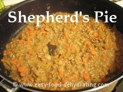 Shepherd's Pie beef cooking