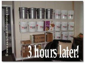 Dehydrated Food Storage Wall