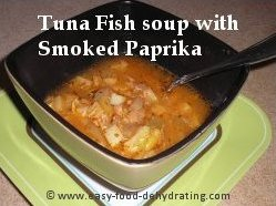 Tuna Fish soup with Smoked Paprika