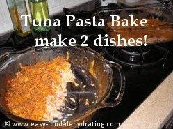Tuna Pasta Bake recipe makes two dishes