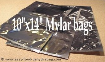 Three Mylar bags, 10