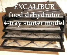 Excalibur Dehydrator - 4 tray starter model
