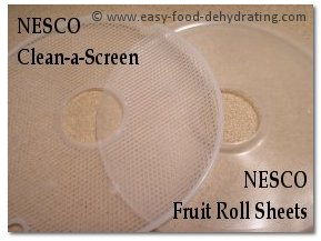 NESCO Clean-a-Screen and Fruit Roll sheets