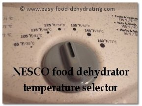 NESCO temperature selector